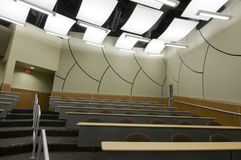 Auditorium Detail. With Lights, Acoustics and Seats Royalty Free Stock Photo