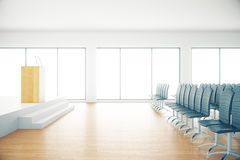 Auditorium di legno Fotografia Stock Libera da Diritti