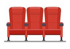Auditorium en zetels in een bioscoop Stock Foto