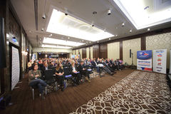 Auditorium in II Annual International Conference of the leaders Royalty Free Stock Image