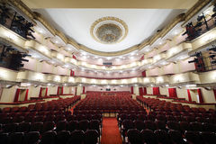 Auditorium of Large stage in Vakhtangov Theatre Royalty Free Stock Image