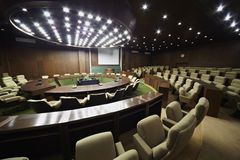 Auditorium for meeting with table and chairs Stock Photos
