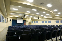 Auditorium at Middle School Stock Photo