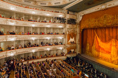 Auditorium of the Mikhailovsky Theatre, St.Petersburg Royalty Free Stock Images