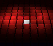 Auditorium with one reserved seat. The auditorium with one reserved seat vector illustration