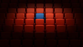 Auditorium with one reserved seat Royalty Free Stock Image