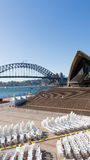 The auditorium in the open air the Sydney Opera House Stock Photo