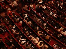 Auditorium with people Royalty Free Stock Images