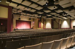 Auditorium at Performing Arts Center Stock Photo