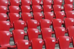 Auditorium  and Red seat in Stadium Stock Photography