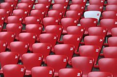 Auditorium  and Red seat in Stadium Royalty Free Stock Photography