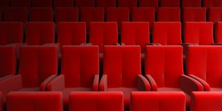 Auditorium with red seats Royalty Free Stock Image