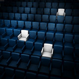 Auditorium with reserved seats Stock Photography