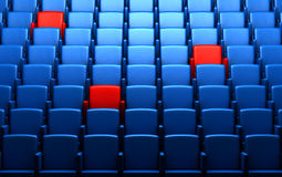Auditorium with reserved seats Royalty Free Stock Photos