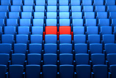 Auditorium with reserved seats Royalty Free Stock Image