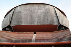 Auditorium at Rome. Auditorium designed by architect Renzo Piano external view on facade and court yard Royalty Free Stock Images