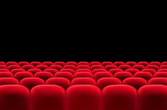 Auditorium with rows of red seats Stock Image