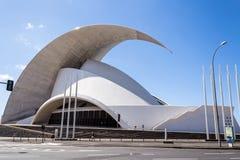 Auditorium. Of Santa Cruz de Tenerife in Spain Royalty Free Stock Photography