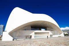 Auditorium at Santa Cruz Tenerife Spain back Royalty Free Stock Image