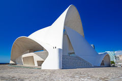 Auditorium at Santa Cruz Tenerife Spain from side Royalty Free Stock Photos