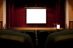 Auditorium screen Royalty Free Stock Photography