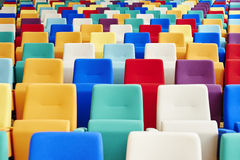 Auditorium Seating of Many Colors Stock Images