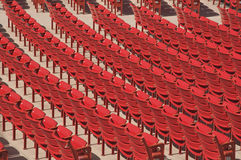 Auditorium Seats Royalty Free Stock Photos