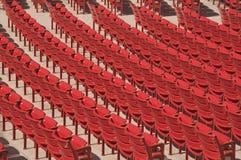 Auditorium Seats. Red auditorium seats a the Millenium Park, Chicago Royalty Free Stock Photos