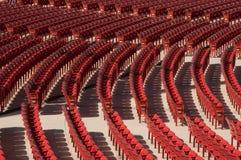 Auditorium Seats. Red auditorium seats a the Millenium Park, Chicago Royalty Free Stock Photo