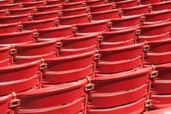Auditorium Seats. Red auditorium seats a the Millenium Park, Chicago Stock Photos