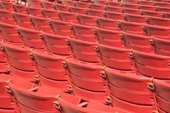 Auditorium Seats. Red auditorium seats a the Millenium Park, Chicago Stock Photo