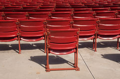 Auditorium Seats. Red auditorium seats a the Millenium Park, Chicago Stock Image