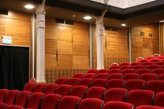 Auditorium seats Stock Image