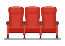 Auditorium and seats in a movie theater. Objects isolated on a white background. Vector illustration in flat style Stock Photo