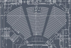 Auditorium seats plan. Of Church or community building Royalty Free Stock Image