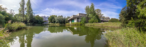 The auditorium seen across the lake Royalty Free Stock Photography