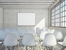 Auditorium sitting in loft space, mock up poster view, Stock Photography