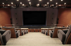 Auditorium stage. An modern auditorium stage and chairs Stock Photo