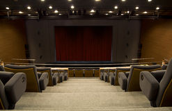Auditorium stage. An modern auditorium stage and chairs Stock Images