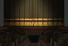 The auditorium and the stage in the theater Stock Photography