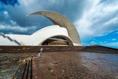 Auditorium of Tenerife in Santa Cruz de Tenerife, Canary Islands, Spain Royalty Free Stock Photos