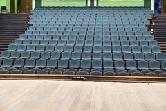 The auditorium of the theater in blue and green tones. Royalty Free Stock Image