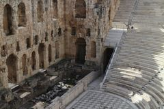 Auditorium of Theatre Odeon of Herodes Atticus, Athens. Greece Royalty Free Stock Image