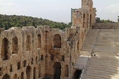 Auditorium of Theatre Odeon of Herodes Atticus, Athens Stock Photo