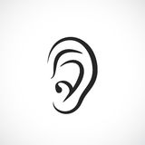 Auditory ear vector icon. Illustration Stock Photography