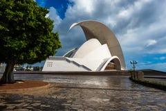 Auditório de Tenerife em Santa Cruz de Tenerife, Ilhas Canárias, Espanha Foto de Stock Royalty Free