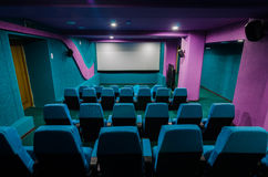 Auditório no cinema foto de stock