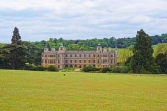 Audley末端议院和庭院前面在艾塞克斯 库存图片