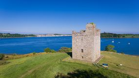 Audley`s Castle. Strangford. county Down, Northern Ireland royalty free stock images