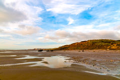 Audresselles seen from the beach at dawn, France Royalty Free Stock Photography